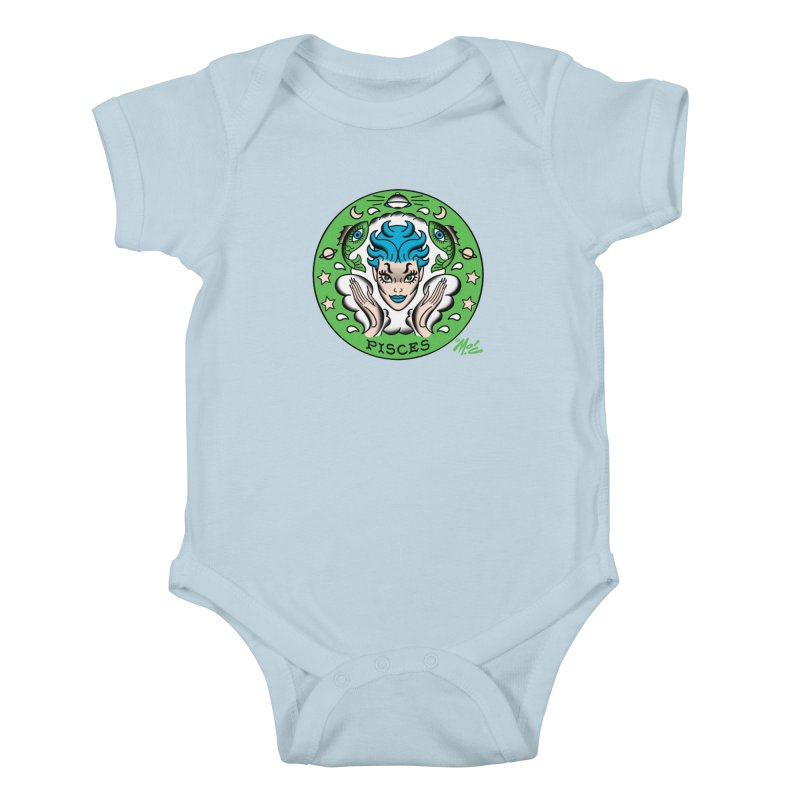 PISCES! Kids Baby Bodysuit by Mitch O'Connell
