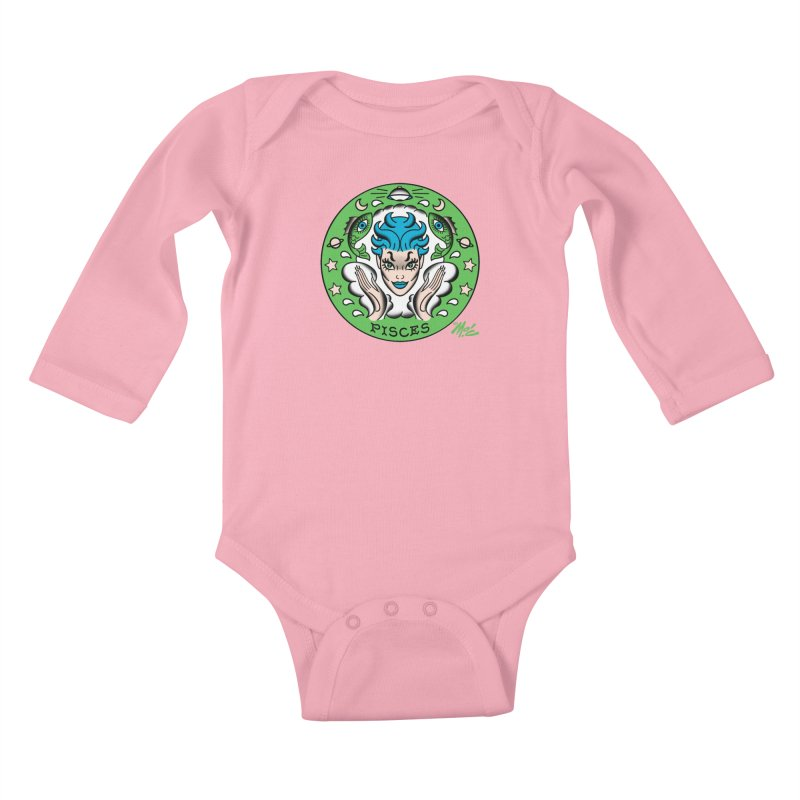 PISCES! Kids Baby Longsleeve Bodysuit by Mitch O'Connell