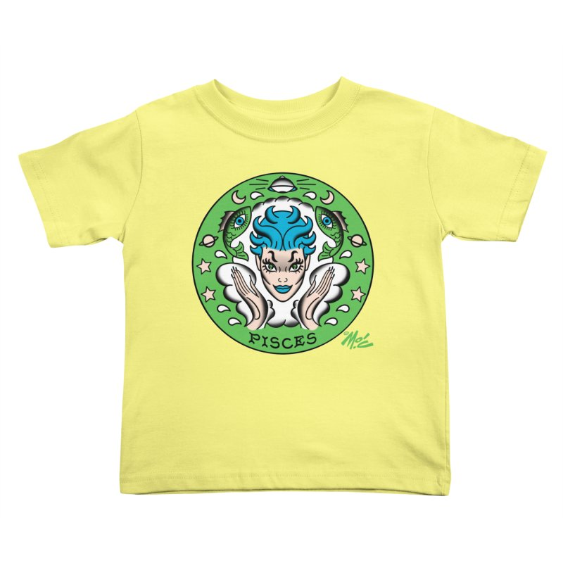 PISCES! Kids Toddler T-Shirt by Mitch O'Connell