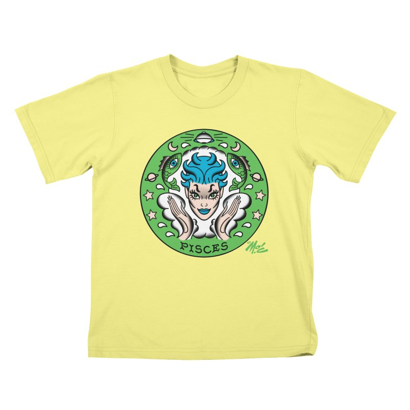 PISCES! Kids T-shirt by Mitch O'Connell