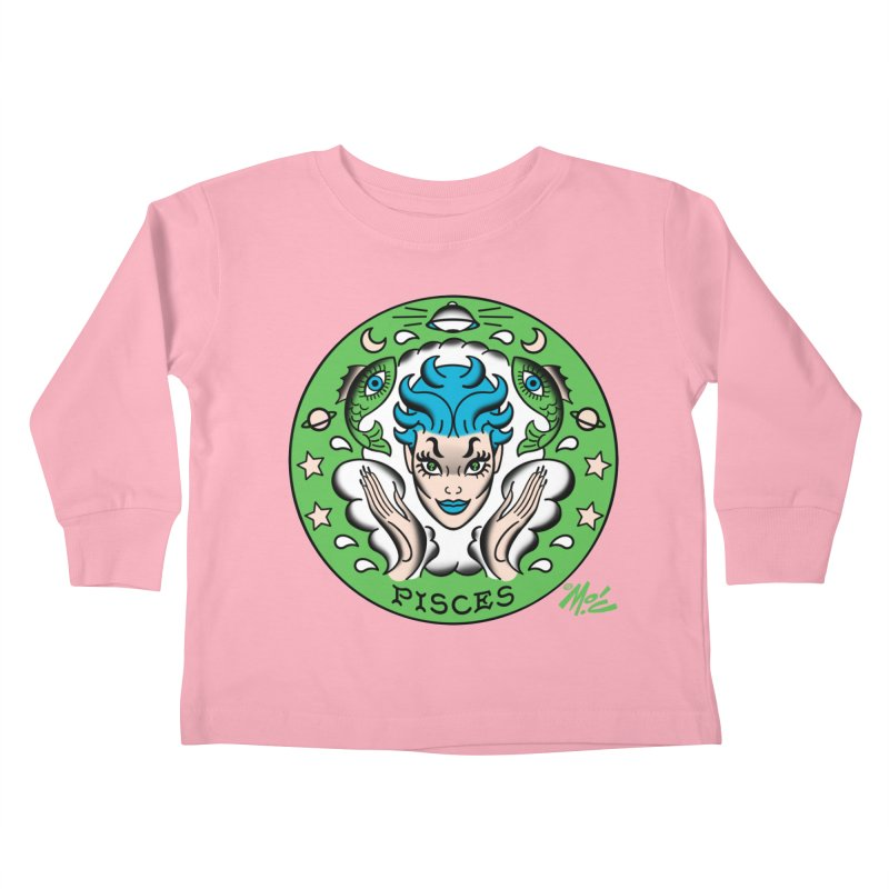 PISCES! Kids Toddler Longsleeve T-Shirt by Mitch O'Connell