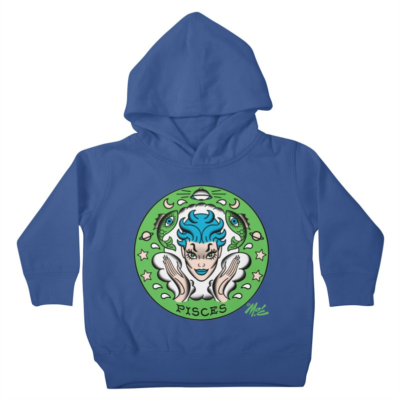 PISCES! Kids Toddler Pullover Hoody by Mitch O'Connell