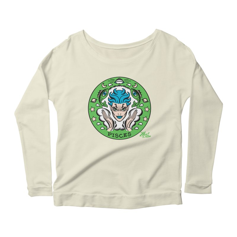 PISCES! Women's Longsleeve Scoopneck  by Mitch O'Connell