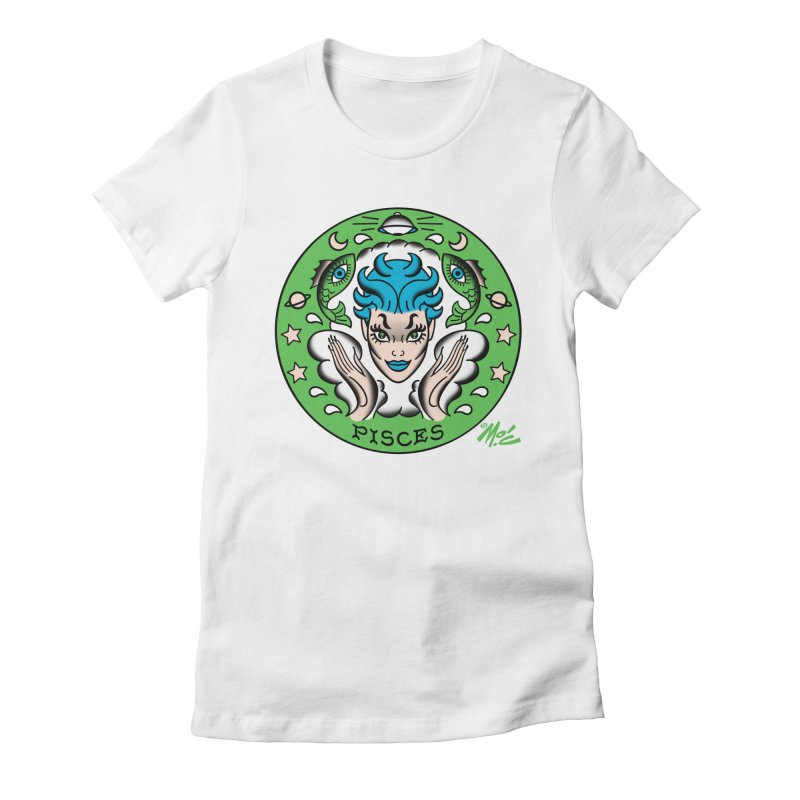 PISCES! Women's Fitted T-Shirt by Mitch O'Connell