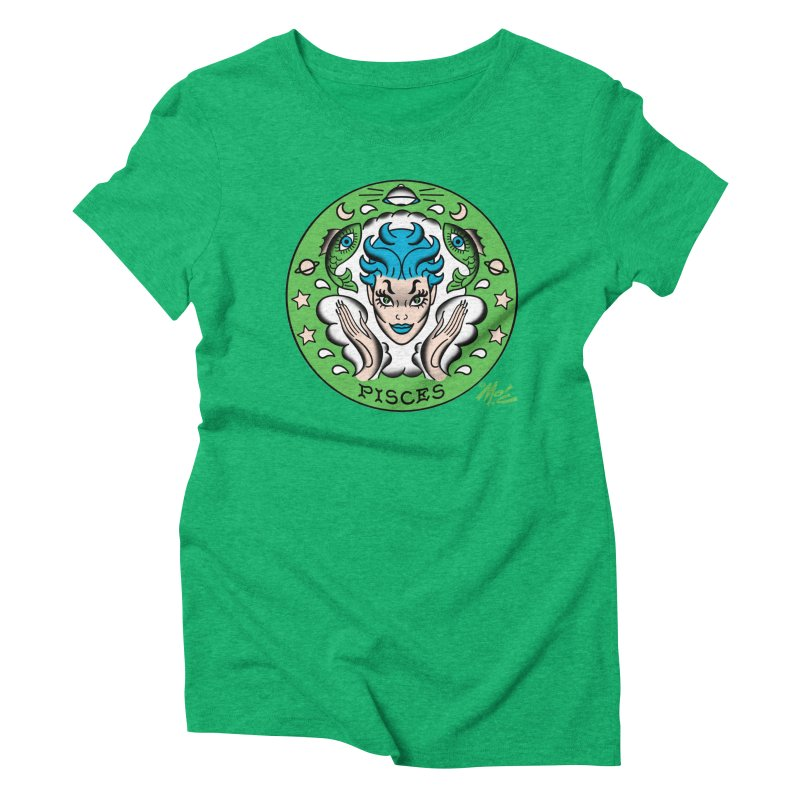 PISCES! Women's Triblend T-shirt by Mitch O'Connell