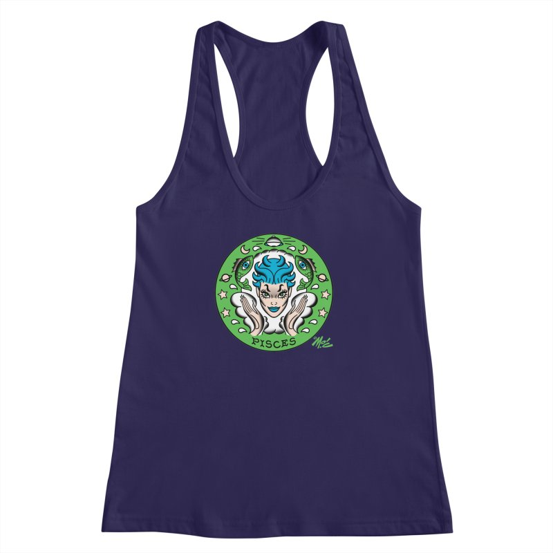 PISCES! Women's Racerback Tank by Mitch O'Connell