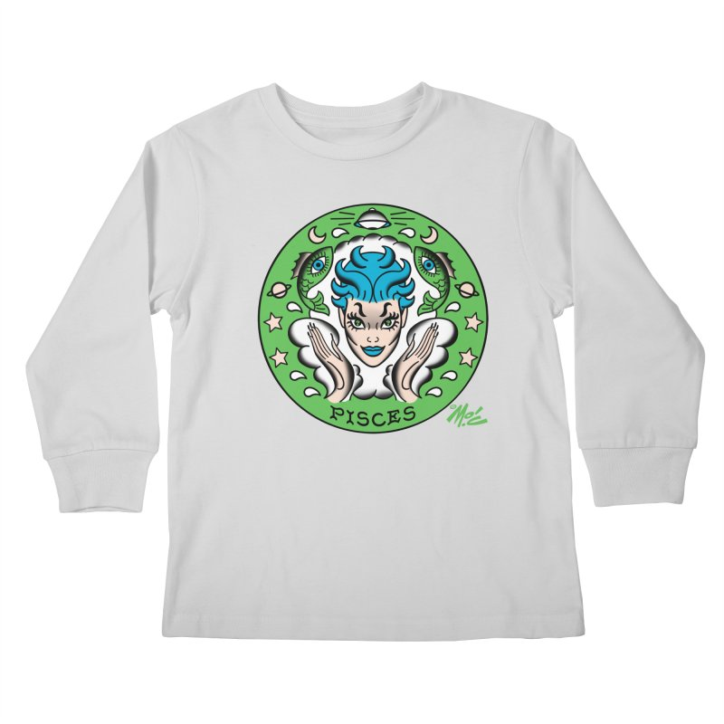 PISCES! Kids Longsleeve T-Shirt by Mitch O'Connell