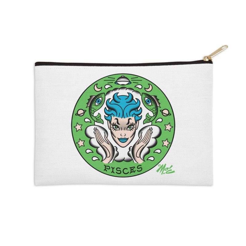 PISCES! Accessories Zip Pouch by Mitch O'Connell