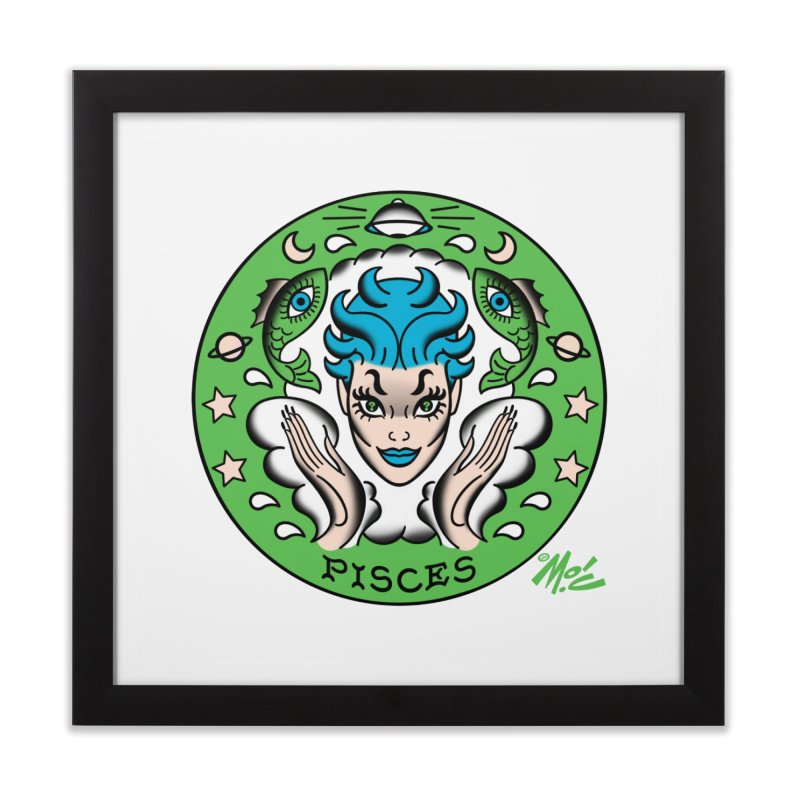 PISCES! Home Framed Fine Art Print by Mitch O'Connell