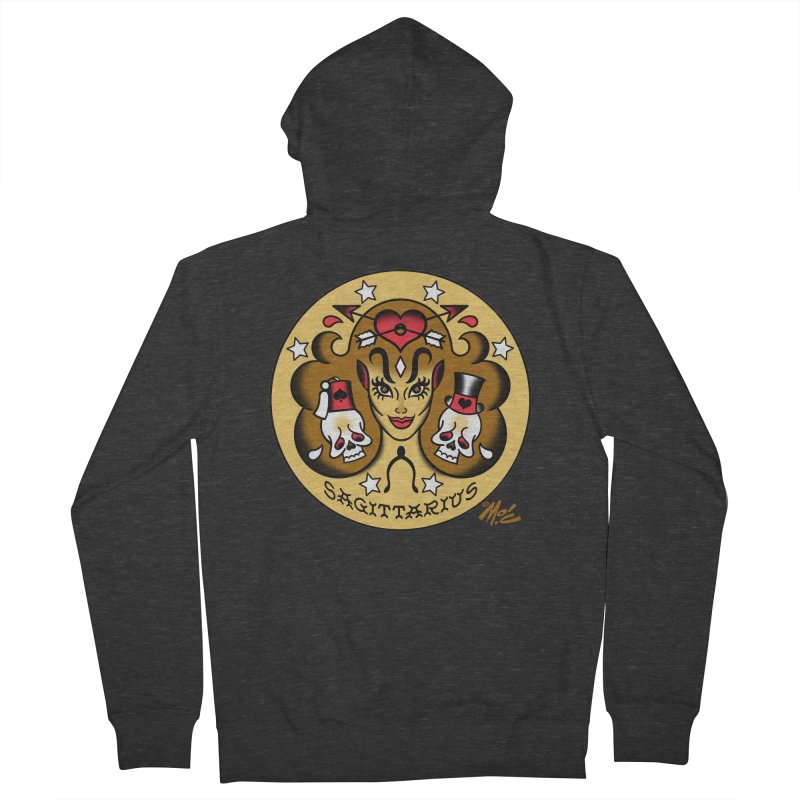 SAGITTARIUS! Men's Zip-Up Hoody by Mitch O'Connell