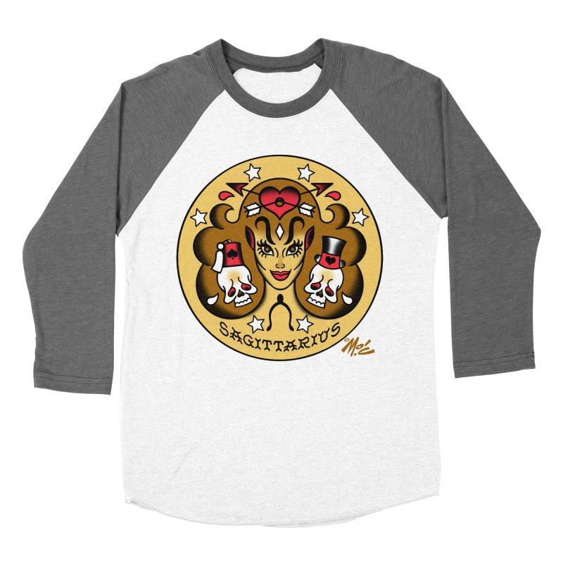 SAGITTARIUS! Women's Baseball Triblend T-Shirt by Mitch O'Connell