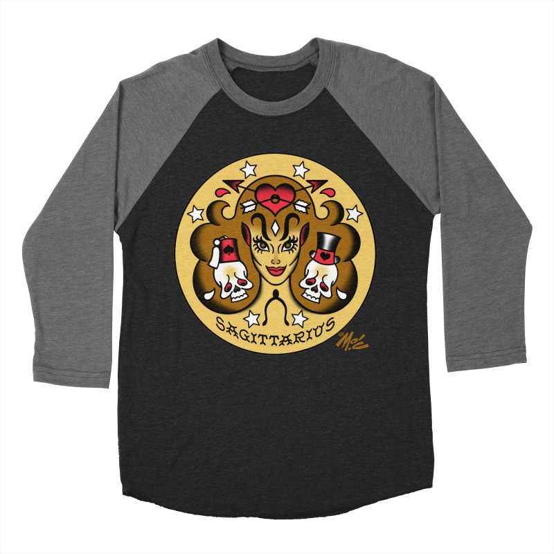 SAGITTARIUS! Men's Baseball Triblend T-Shirt by Mitch O'Connell