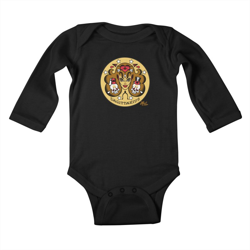 SAGITTARIUS! Kids Baby Longsleeve Bodysuit by Mitch O'Connell