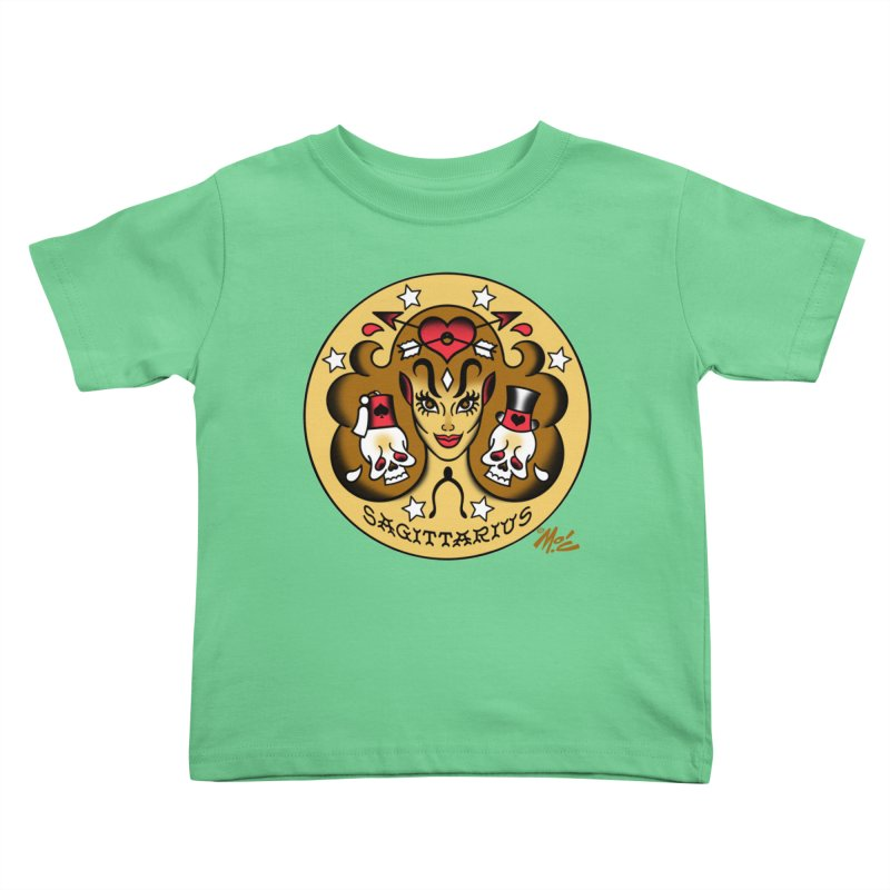 SAGITTARIUS! Kids Toddler T-Shirt by Mitch O'Connell