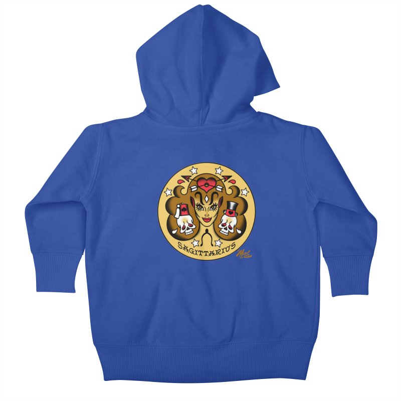 SAGITTARIUS! Kids Baby Zip-Up Hoody by Mitch O'Connell
