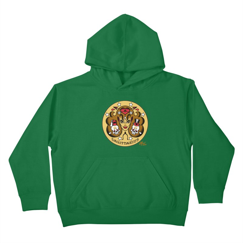 SAGITTARIUS! Kids Pullover Hoody by Mitch O'Connell
