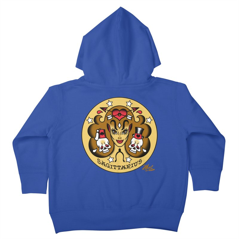 SAGITTARIUS! Kids Toddler Zip-Up Hoody by Mitch O'Connell
