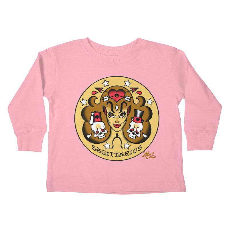 SAGITTARIUS! Kids Toddler Longsleeve T-Shirt by Mitch O'Connell