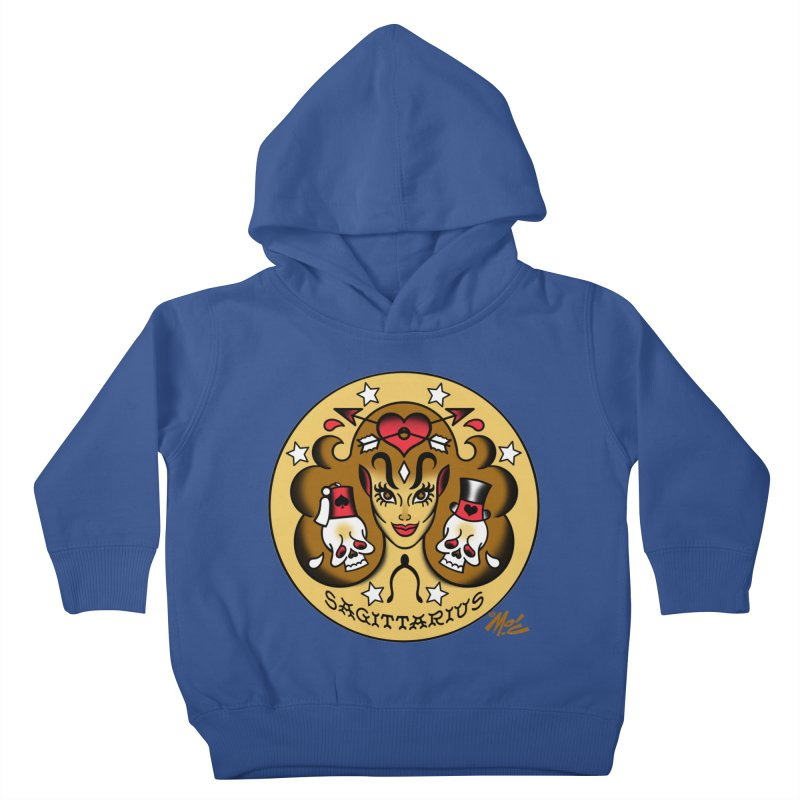 SAGITTARIUS! Kids Toddler Pullover Hoody by Mitch O'Connell