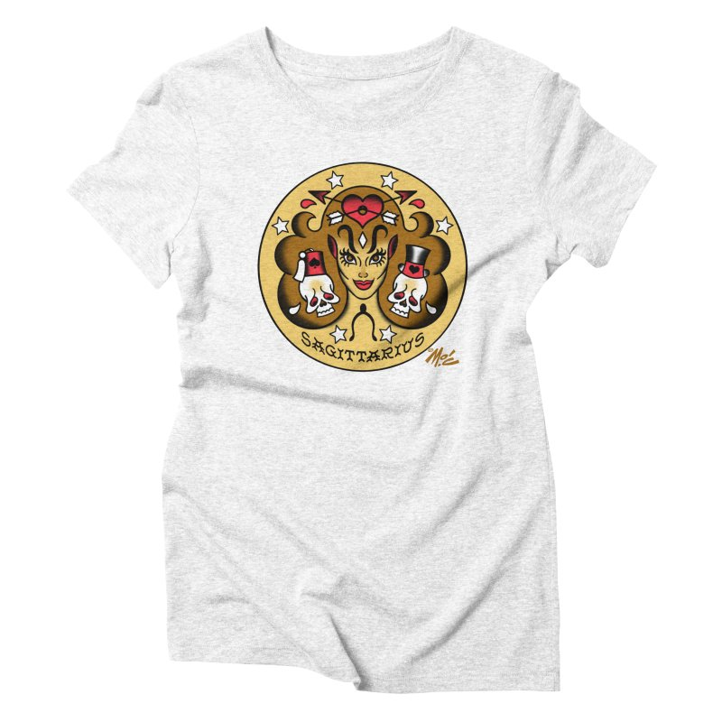 SAGITTARIUS! Women's Triblend T-shirt by Mitch O'Connell