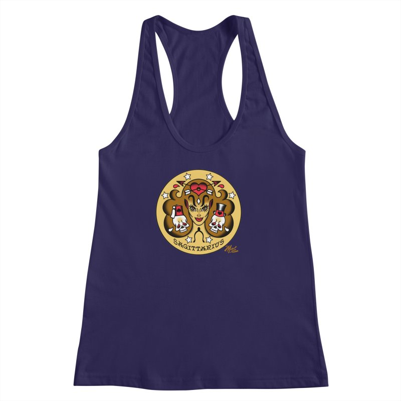 SAGITTARIUS! Women's Racerback Tank by Mitch O'Connell