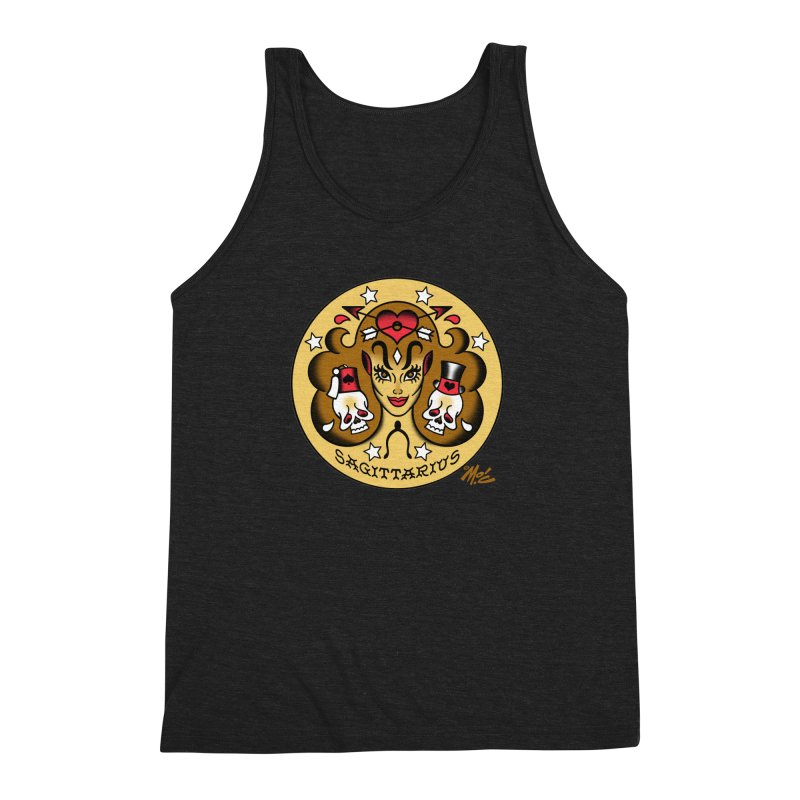 SAGITTARIUS! Men's Triblend Tank by Mitch O'Connell