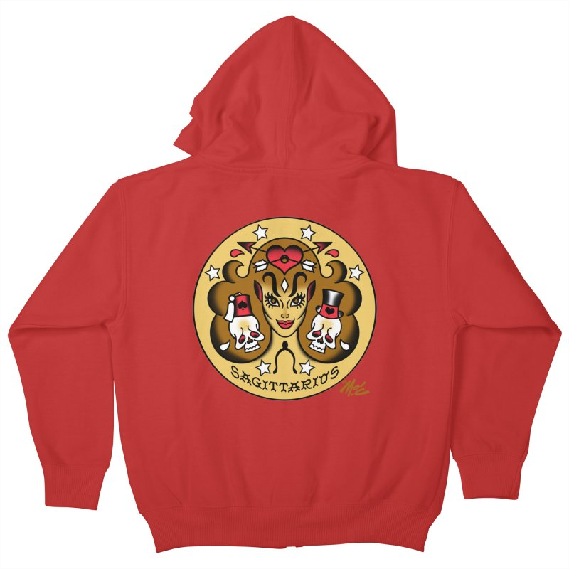 SAGITTARIUS! Kids Zip-Up Hoody by Mitch O'Connell