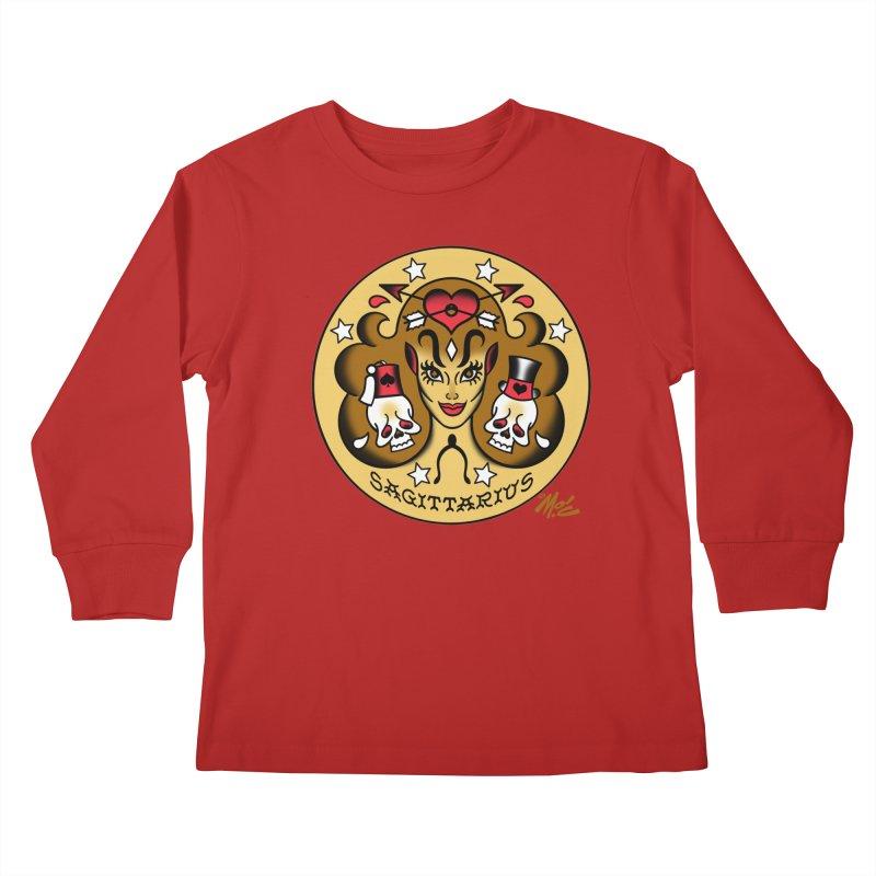 SAGITTARIUS! Kids Longsleeve T-Shirt by Mitch O'Connell