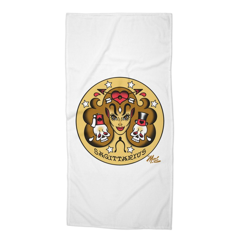 SAGITTARIUS! Accessories Beach Towel by Mitch O'Connell