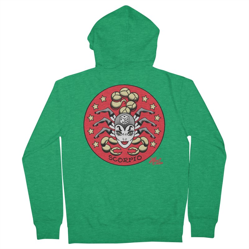 SCORPIO! Men's Zip-Up Hoody by Mitch O'Connell