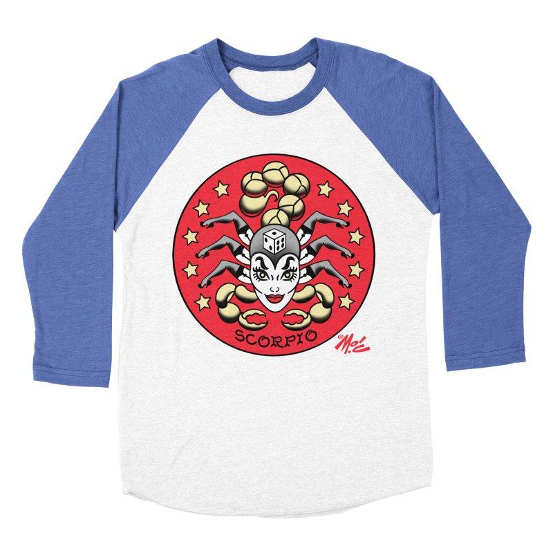 SCORPIO! Women's Baseball Triblend T-Shirt by Mitch O'Connell