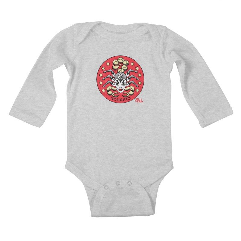 SCORPIO! Kids Baby Longsleeve Bodysuit by Mitch O'Connell