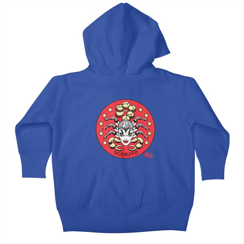 SCORPIO! Kids Baby Zip-Up Hoody by Mitch O'Connell