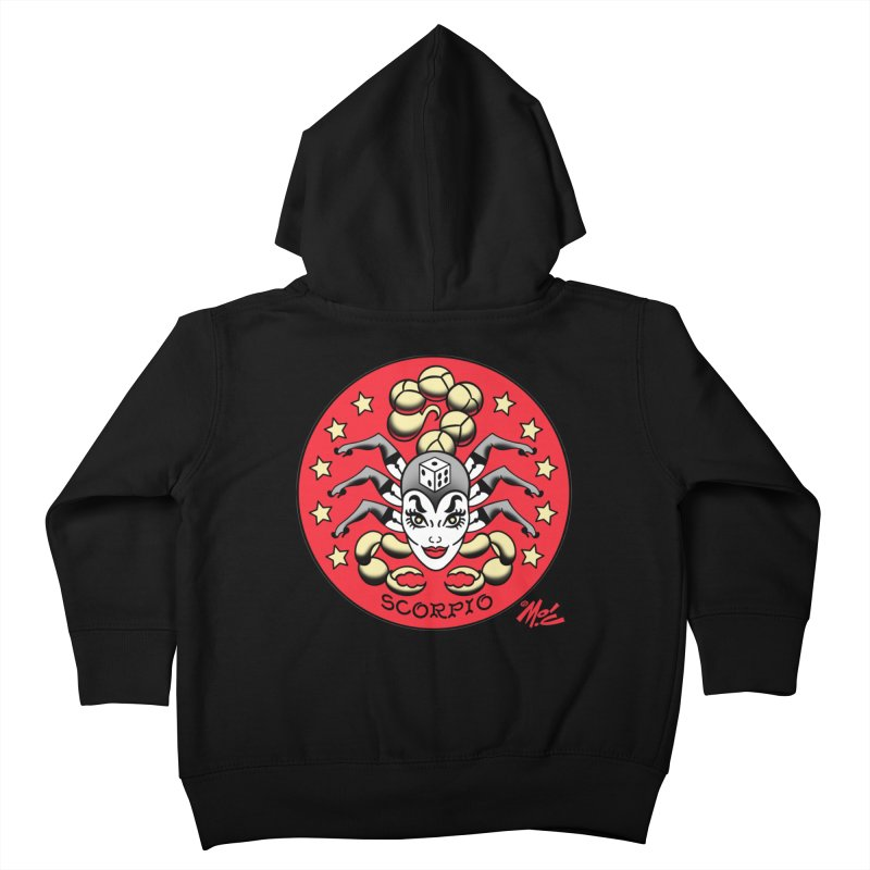 SCORPIO! Kids Toddler Zip-Up Hoody by Mitch O'Connell