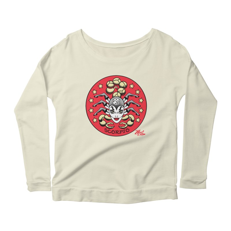SCORPIO! Women's Longsleeve Scoopneck  by Mitch O'Connell