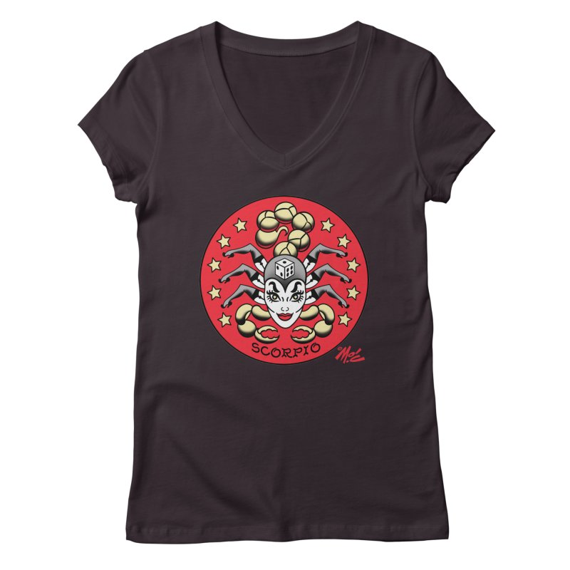 SCORPIO! Women's V-Neck by Mitch O'Connell