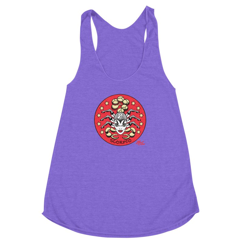 SCORPIO! Women's Racerback Triblend Tank by Mitch O'Connell