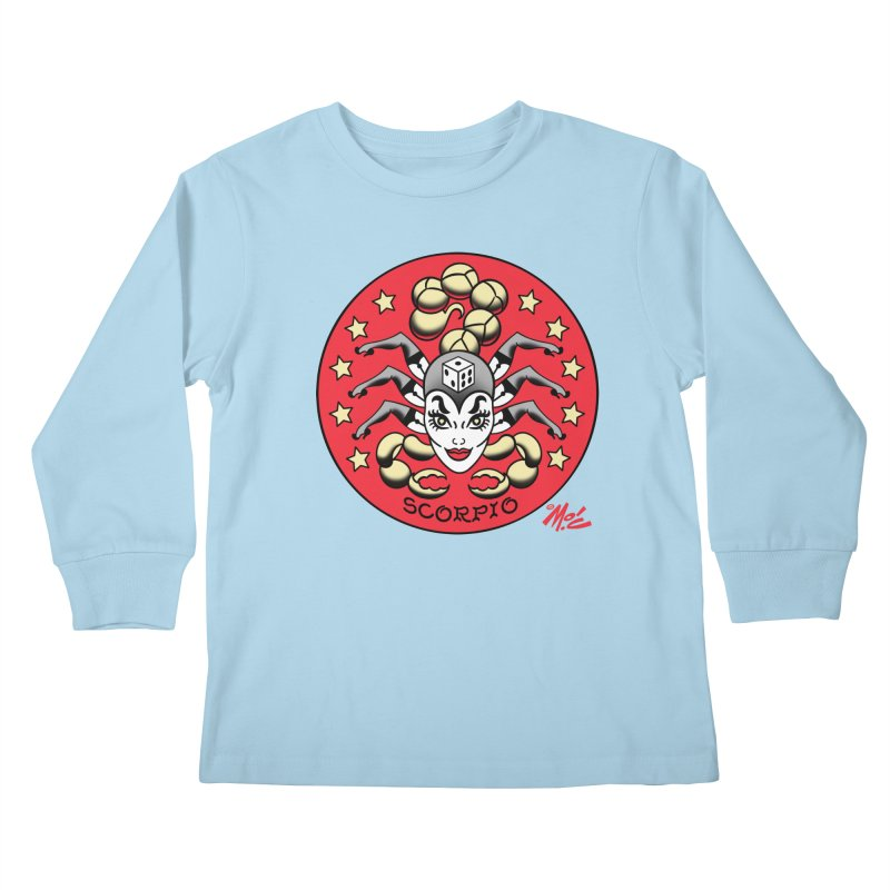 SCORPIO! Kids Longsleeve T-Shirt by Mitch O'Connell