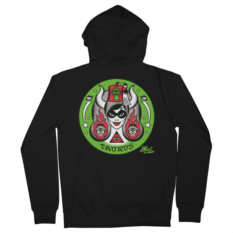 TAURUS! Men's Zip-Up Hoody by Mitch O'Connell