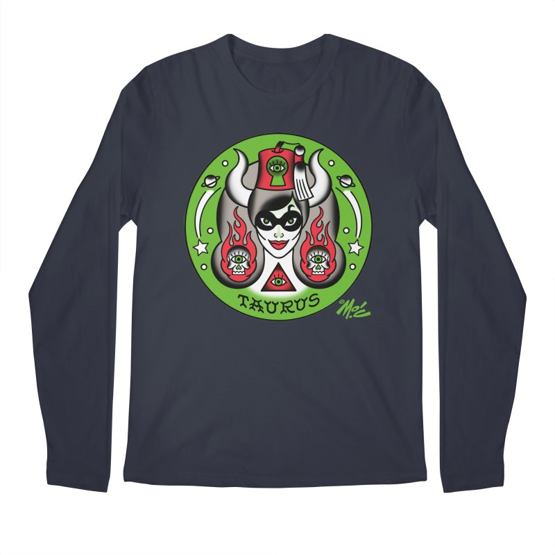TAURUS! Men's Longsleeve T-Shirt by Mitch O'Connell