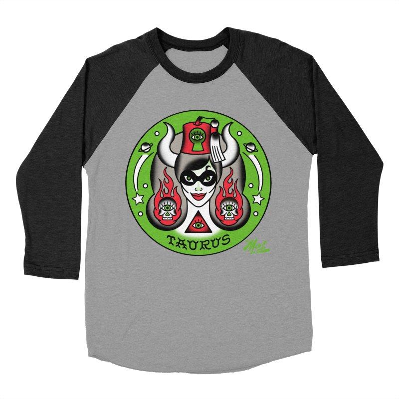 TAURUS! Women's Baseball Triblend T-Shirt by Mitch O'Connell