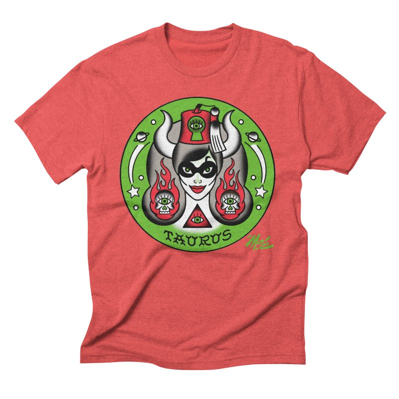 TAURUS! Men's Triblend T-shirt by Mitch O'Connell