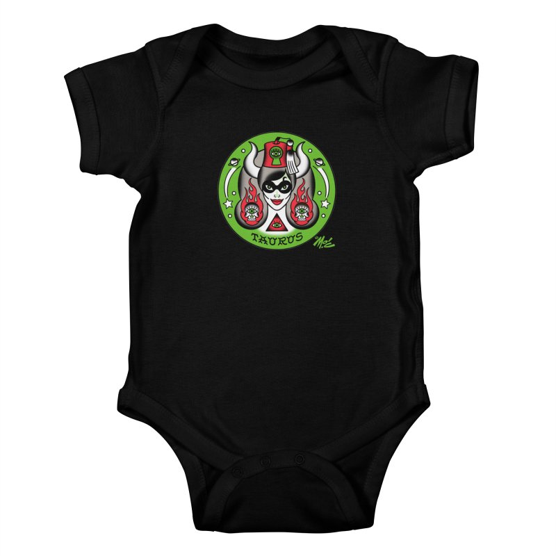 TAURUS! Kids Baby Bodysuit by Mitch O'Connell