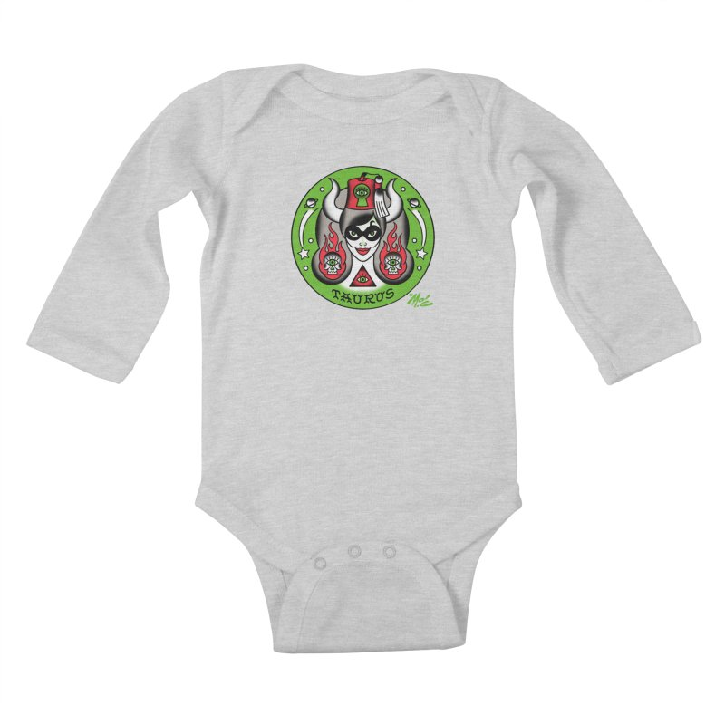 TAURUS! Kids Baby Longsleeve Bodysuit by Mitch O'Connell