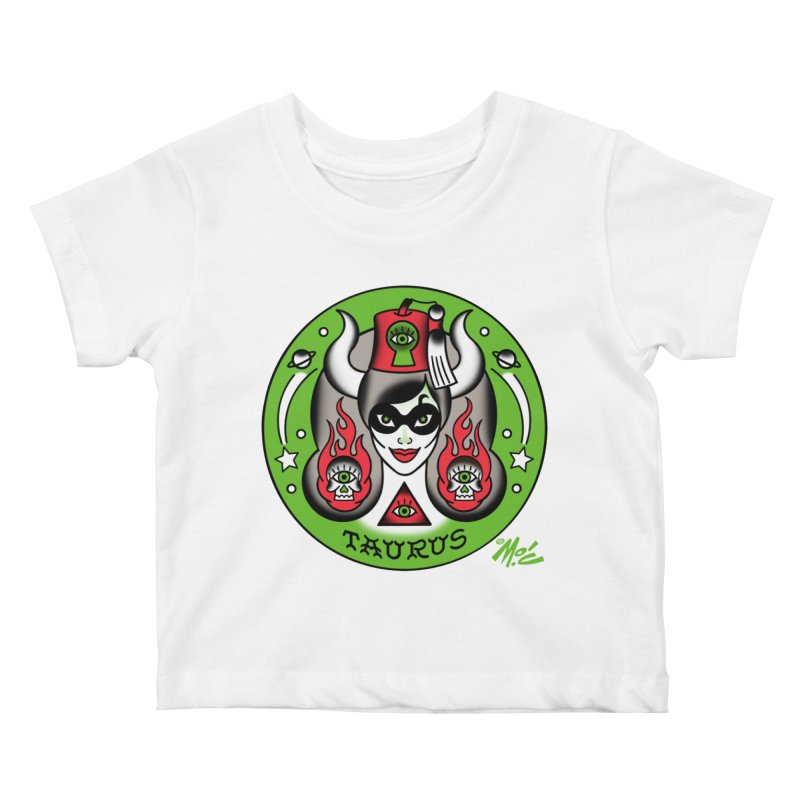 TAURUS! Kids Baby T-Shirt by Mitch O'Connell