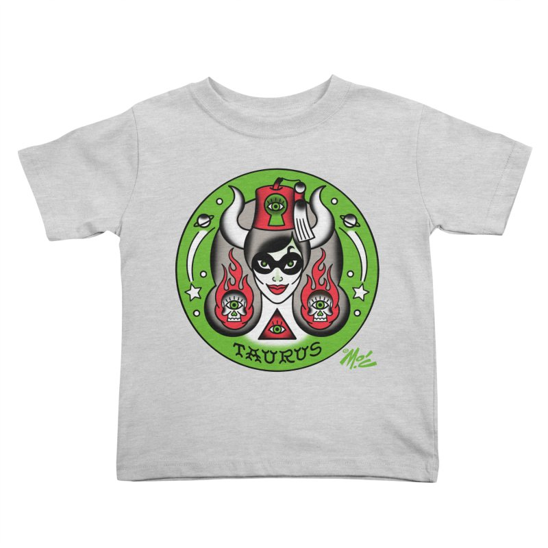 TAURUS! Kids Toddler T-Shirt by Mitch O'Connell