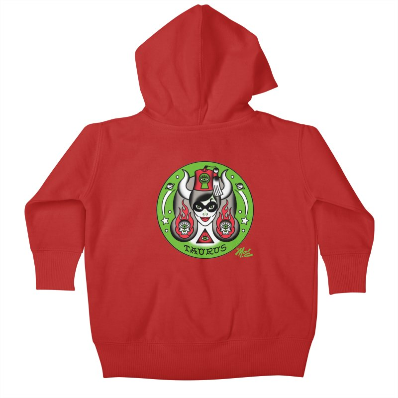 TAURUS! Kids Baby Zip-Up Hoody by Mitch O'Connell