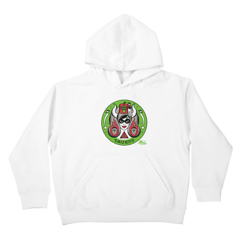 TAURUS! Kids Pullover Hoody by Mitch O'Connell