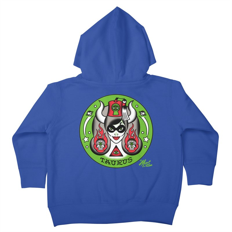 TAURUS! Kids Toddler Zip-Up Hoody by Mitch O'Connell