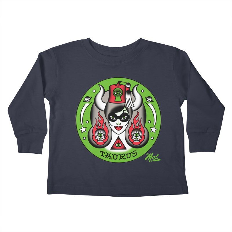 TAURUS! Kids Toddler Longsleeve T-Shirt by Mitch O'Connell
